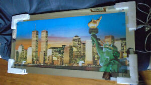 Household Picture of the Old Twin Towers in Lights - $120