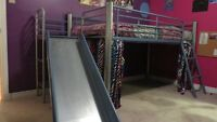 Awesome Metal Loft Bed with slide - very sturdy
