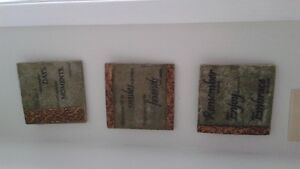3 WALL PLAQUES