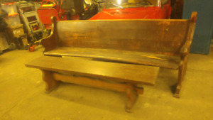 Church pew and bench