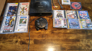 Sega Saturn with 11 games