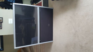 """51"""" Toshiba rear projection tv and entertainment wall unit for F"""