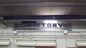 VICTORY MOTORCYCLES - INDOOR METAL WALL SIGN