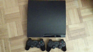 PS3slim good condition 5 games,2 ccontrollers& wirless charger
