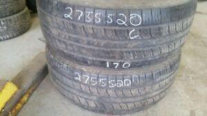 Pair of 2 Kumho Road Venture APT 275/55R20 tires (60% tread life