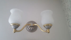 Gold and Chrome Coloured Wall Sconce