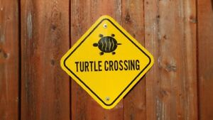 Road Sign Turtle Crossing (Real)
