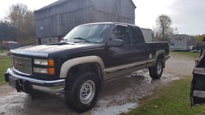 1998 GMC Sierra with plow