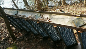 Steel Industrial Steps w/ Handrails Excellent