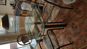 High quality glass table and chairs