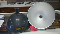 1960's Victor Smith Industrial Metal Light Shades