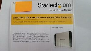 2.5in Silver USB 2.0 to IDE External Hard Drive Enclosur