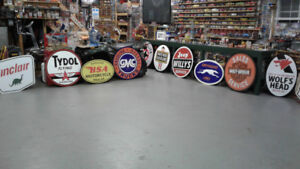 MOTORCYCLE AND GASOLINE SIGNS
