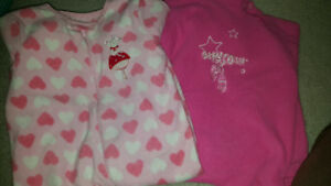 12-18 month fleece sleepers euc