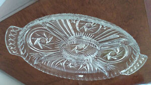 Pin wheel crystal dish
