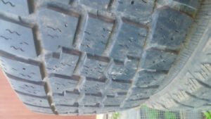 4 used 185/65R15 snow tires with rims