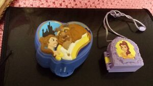 Collectible Beauty and Beast Polly Pocket Locket and Playset