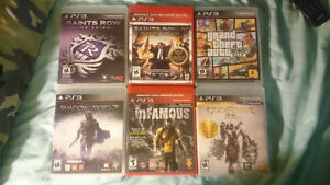 6 PS3  games like brand new