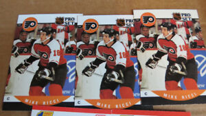 Mike Ricci rookie cards(5)