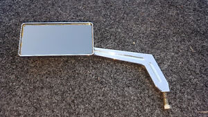 Custom Polished Billet Aluminium Left Side Mirror