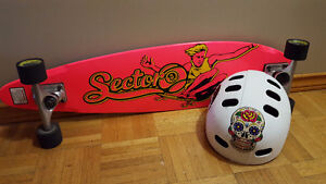 Sector 9 long board with helmet