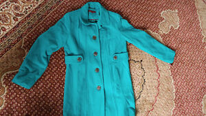 Reduced Turquoise blue winter coat