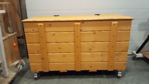 Handcrafted outdoor storage container