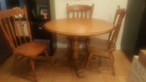 Kitchen table. Solid wood. $60 OBO