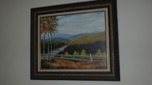 AN   VINTAGE BEAUTIFUL OIL PAINTING WITH NICE FRAME FOR SALE