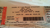 AC/DC tickets for Montreal show