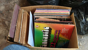 Variety of records. (78's, 45's and 33's)