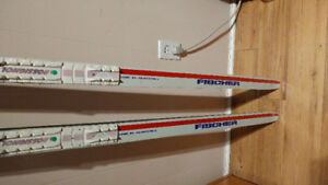 Fischer Super Step waxless X-country skis.