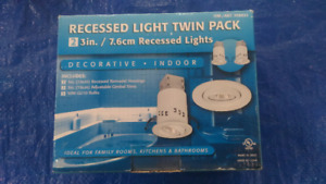 Recessed lighting kit , suspended ceiling, includes 2 lights