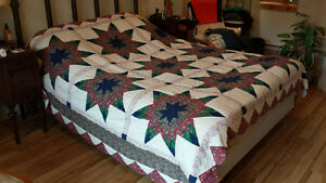 Hand Quilted Lone Star Quilt