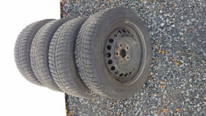 X Ice Michelin 15 inch Winter Tires on rims REDUCED