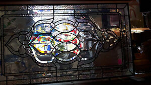 Stained glass 19x34 inches