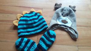 Winter baby hats 0-3 months & 0-6months