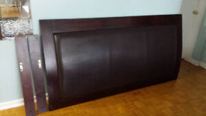 Head board King size  with leather cushioning