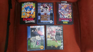 Great condition Sega Genesis games in cases with manuals