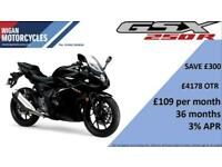 SUZUKI GSXR250 AVAILABLE WITH LOW RATE FINANCE