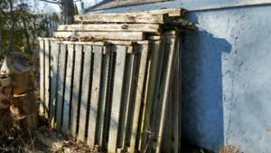 Used fence sections
