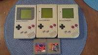 3 gameboy original + 2 jeux