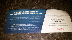 Niagara falls fun zone admission for 4 people to 4 attractions