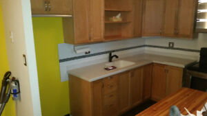 """maple kitchen119"""" x 83"""" maple doors $ drawer fronts corion count"""