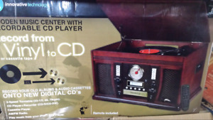 Wooden music Centre with recordable cd player