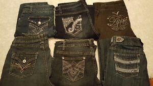 designer jeans $25 for all 6 pairs