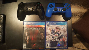 PS4 with 2 controllers and 10 Games!!!!