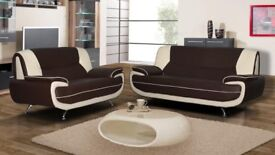 🚚🚛BEST BUY AT LOW BUDGET🚚🚛 BRAND NEW CAROL FAUX LEATHER 3+2 SEATER SOFA SET AT VERY CHEAP PRICE