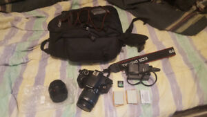 Canon EOS Rebel T2i with extras
