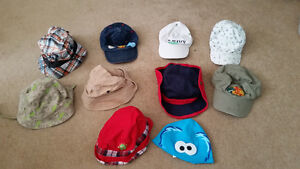 Many hats Sun hats, Baseball Caps and more 6-12mths